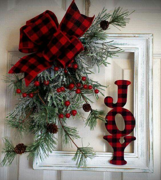 Frame Christmas wreath ideas