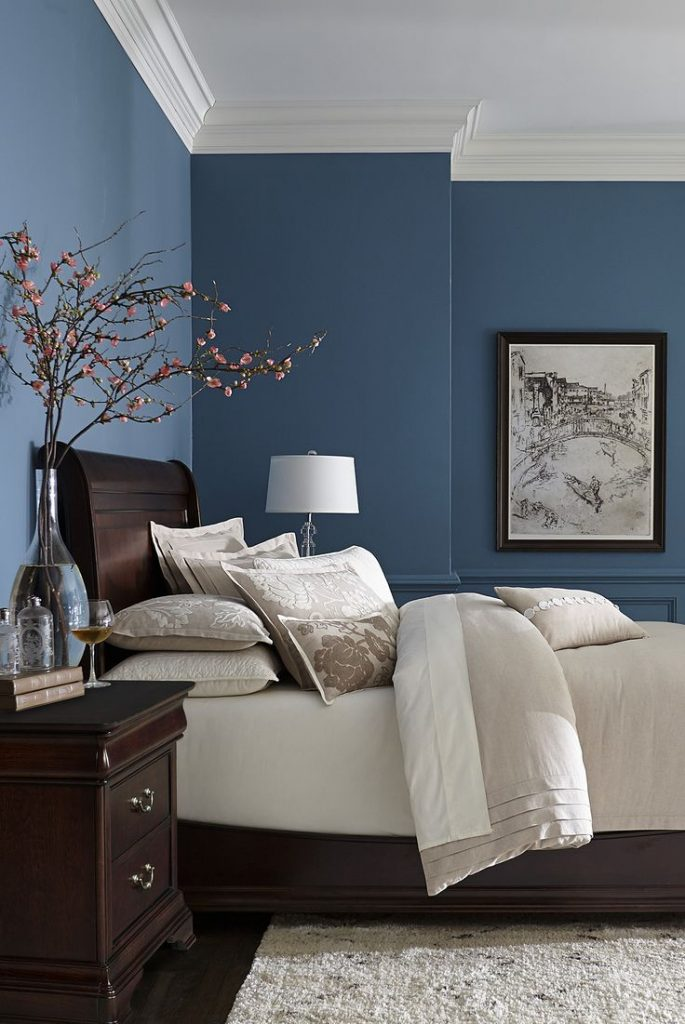 bedroom color schemes blue