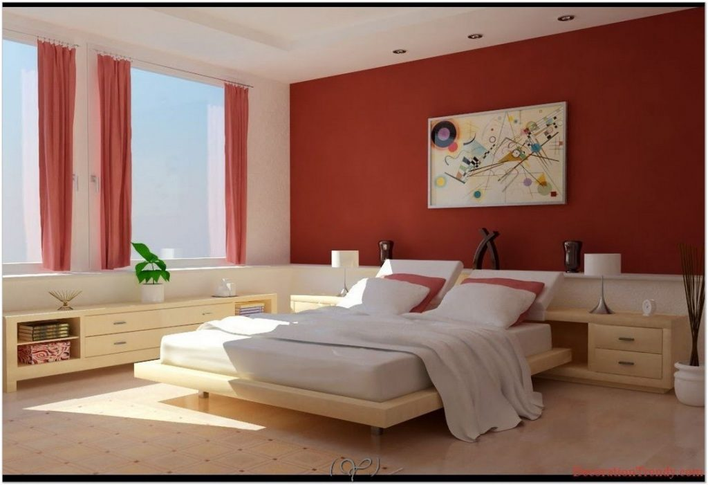 red bedroom color schemes