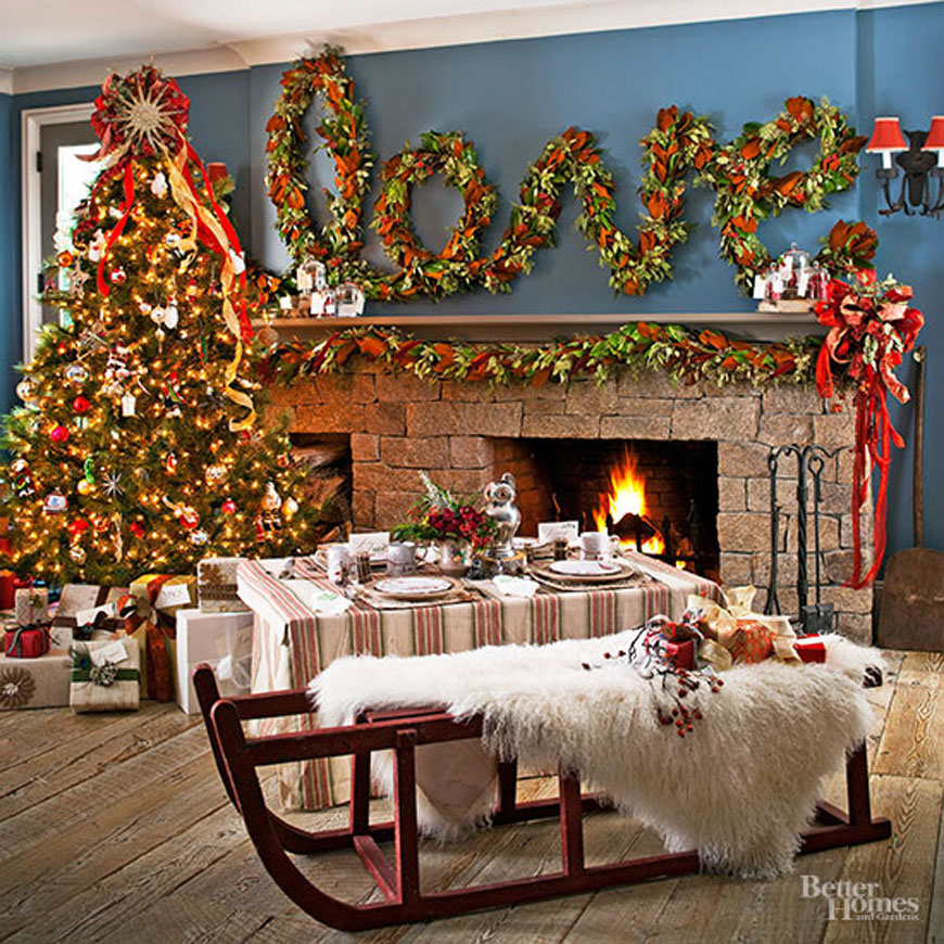 decorating living room for Christmas ideas 21