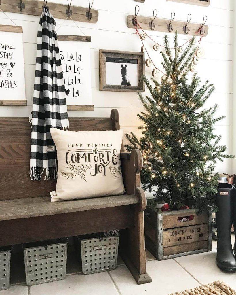 farmhouse christmas decor pinterest