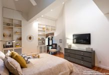 Master bedrooms with built-in shelving ideas