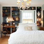 cool master bedrooms with built-in shelving