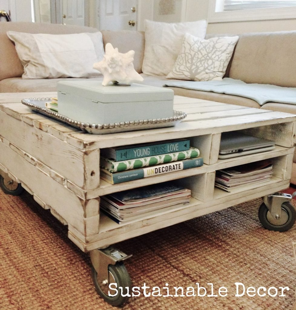 nice DIY farmhouse coffee table ideas