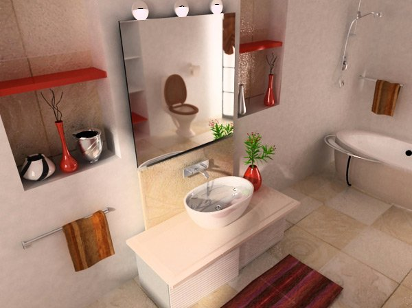new beige bathroom