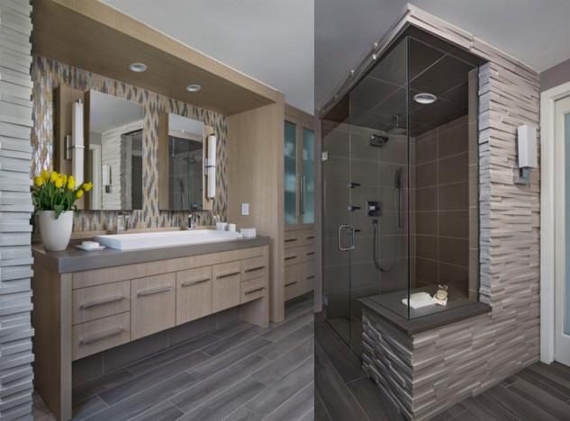 Beige bathroom vanity