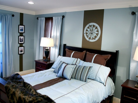 new blue and brown bedrooms