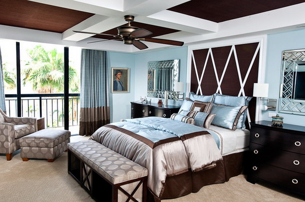 amazing blue and brown bedrooms