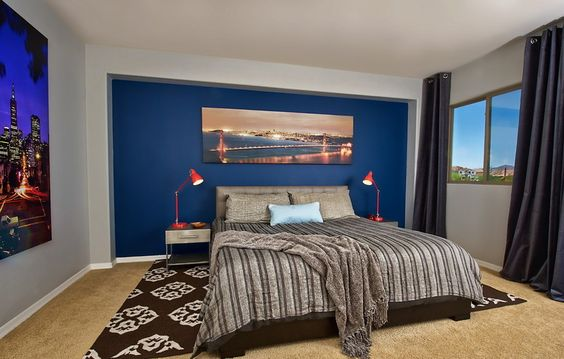 light blue and brown bedrooms 20