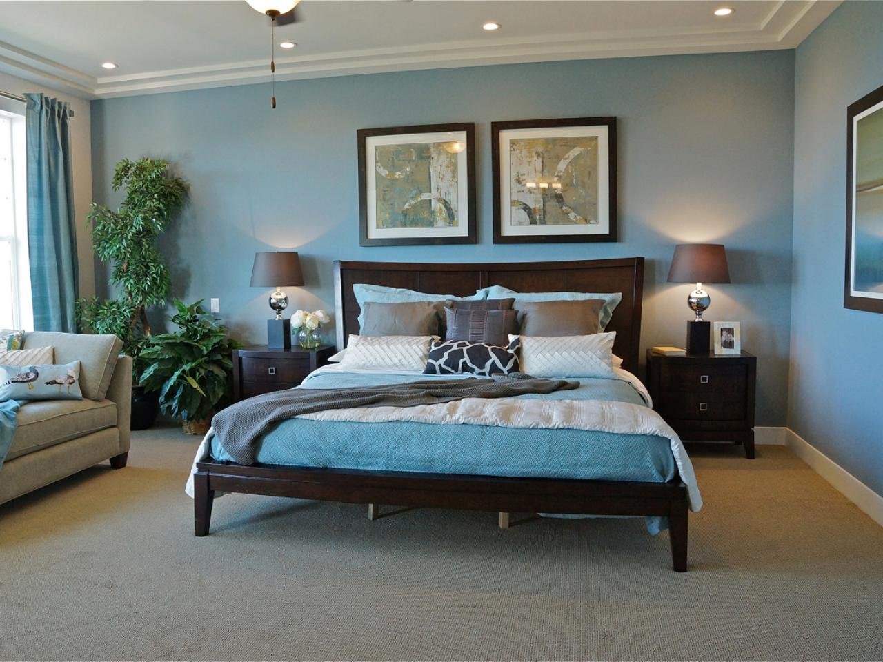 25 Blue and Brown Bedrooms Decor & Designs   Decor Or Design