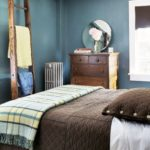 large blue and brown bedrooms