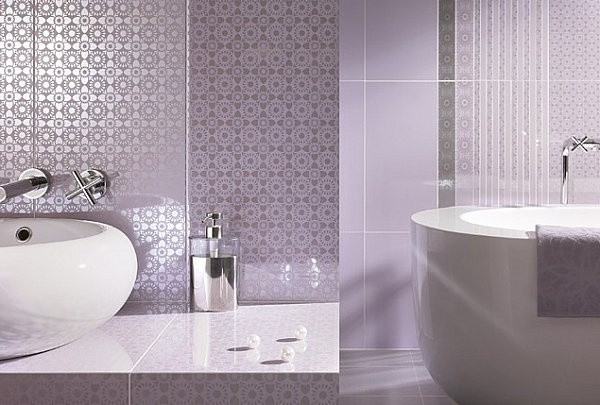Lavender and white bathroom ideas