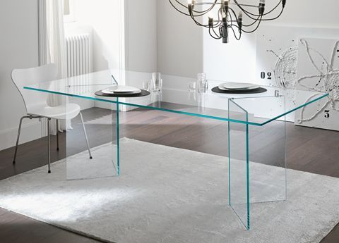new mirrored dining room table