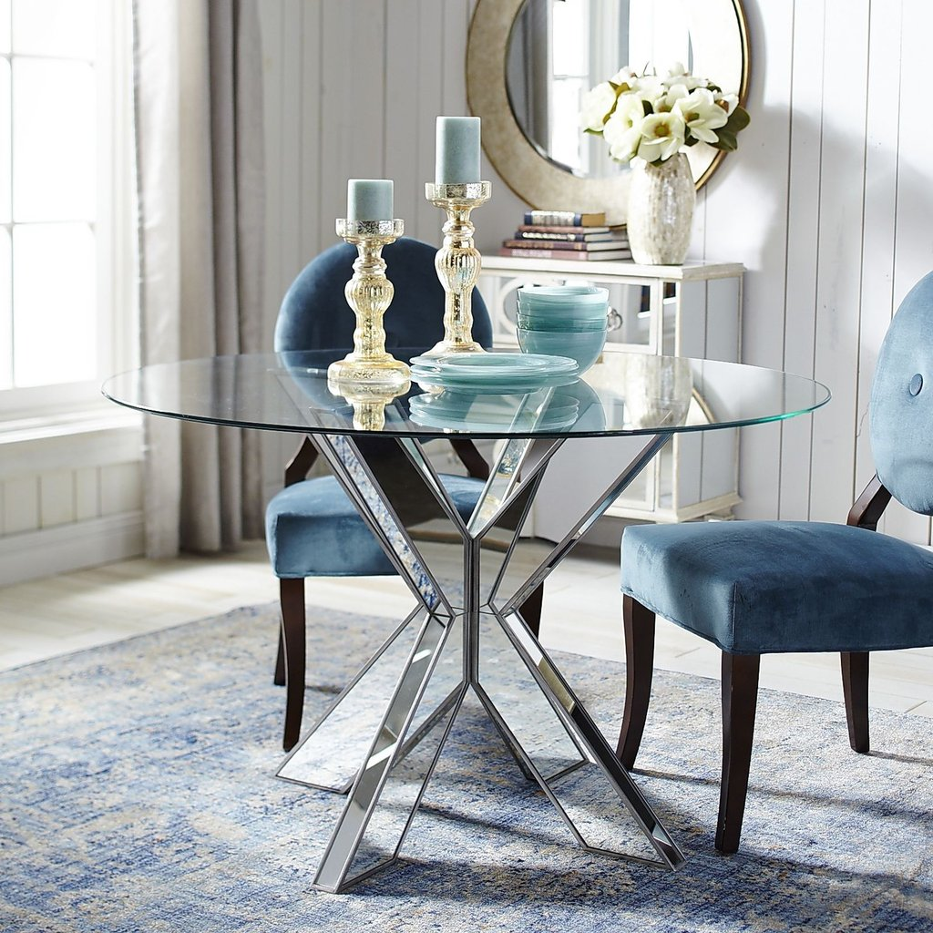 best mirrored dining room table