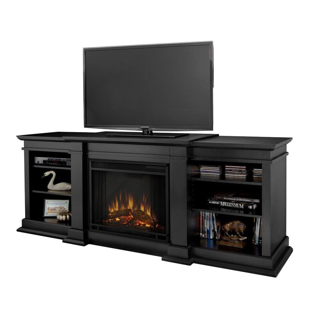 media console fireplace with tv stand