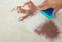 how to remove lood stains from carbet